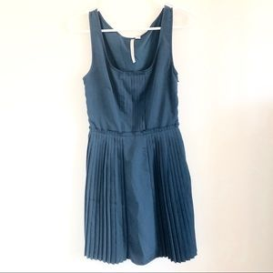 Fit and flare dress with pleated skirt